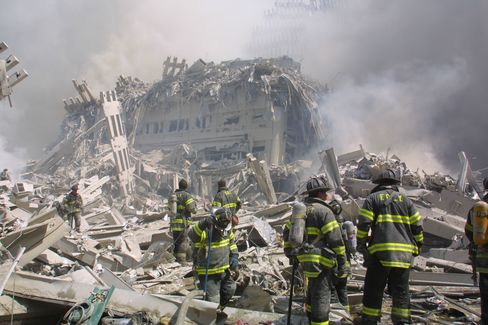 Firefighters At Ground Zero On Sept. 11, 2001