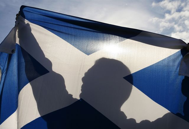 Scotland might have new uses for St. Andrew's Cross. Photographer: Mike Wilkinson/Bloomberg