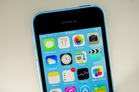 Apple iPhone 5c with iOS 7
