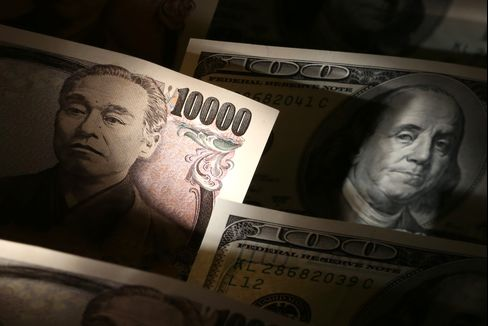 US Dollars And Japanese Yen