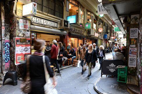 Street cafes in Melbourne
