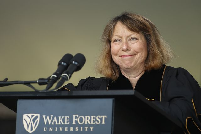 Former New York Times editor Jill Abramson, handling a setback. Photographer: Chris Keane/Getty Images