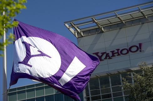 Yahoo Gains as Mayer Cites Mobile Growth