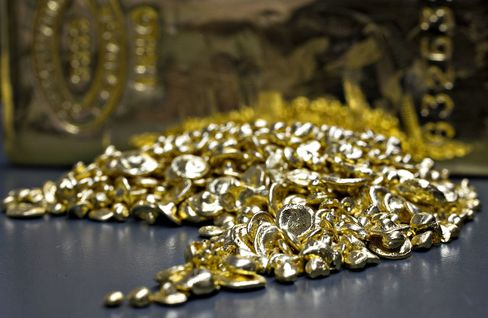Pure gold grain