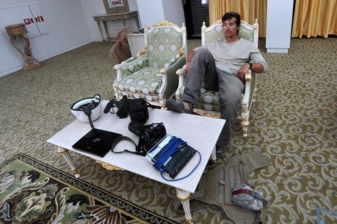 James Foley in 2011 in Sirte, Libya. Photographer: Aris Messinis/AFP/Getty Images