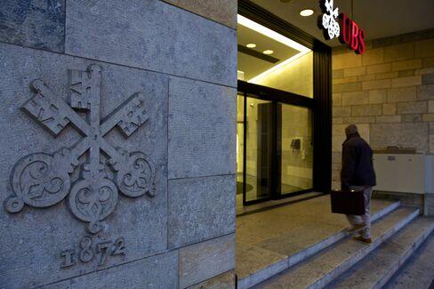 UBS Headquarters Stand in Zurich