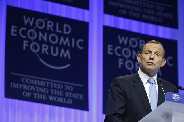 One Tea Party in the world is enough, Tony Abbott. Photographer: Jason Alden/Bloomberg