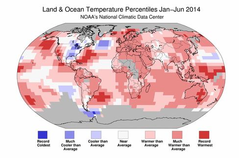 Source: NCDC/NOAA; data source GHCN-M version 3.2.2 and ERSST version 3b