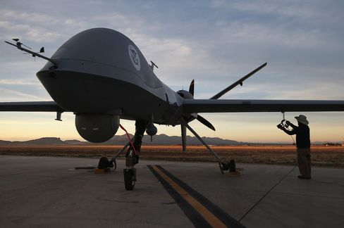 U.S. Air And Marine Predator Drones Launch For Missions Overlooking U.S.-Mexico Border