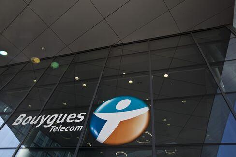A Bouygues Telecom Logo Sits Outside the Company's Headquarters