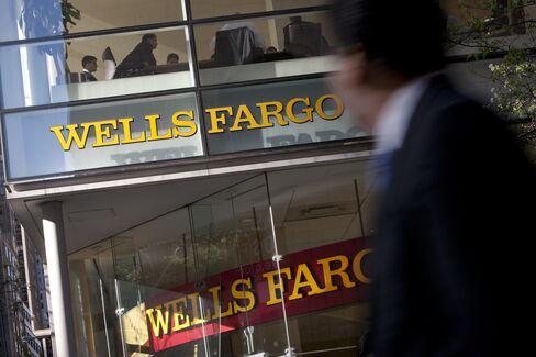Wells Fargo Bankers Toting Guns Aim at 40% of Market