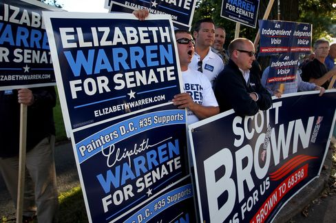 Massachusetts Senate Candidates Brown and Warren Debate