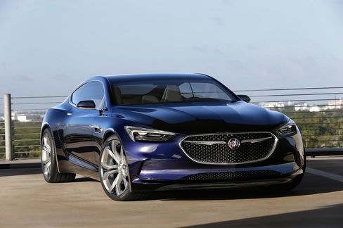 Buick's Avista concept drew rave reviews for its leaf-shaped window openings and lustrous paint job.