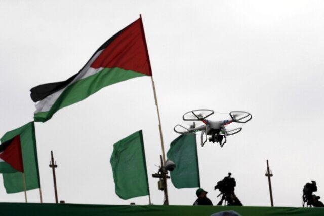 Hamas has used surveillance dronesat rallies.