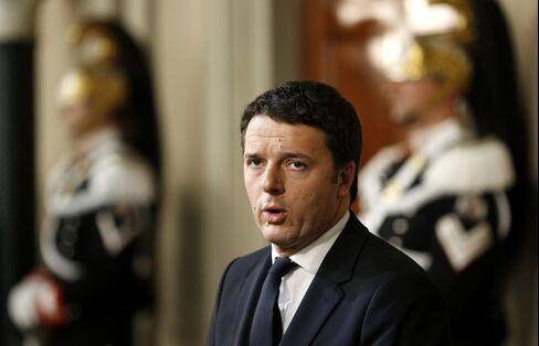 Italy's Prime Minister-designate Matteo Renzi
