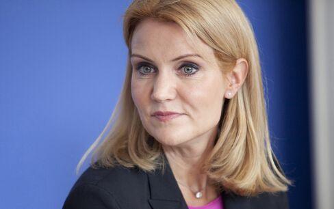 Denmark's Opposition Leader Helle Thorning-Schmidt
