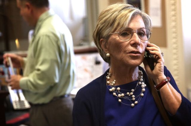 I'd love to chat, Senator Boxer, but I'm busy.Photographer:Alex Wong/Getty Images