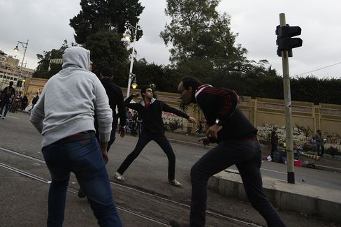 Egyptian Protesters Clash in Cairo Amid Constitution Dispute
