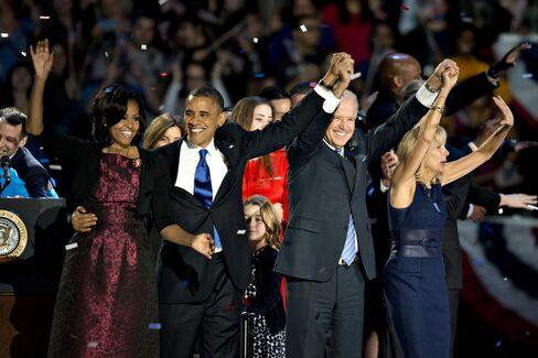 U.S. President Barack Obama, Vice President Joe Biden and Wives