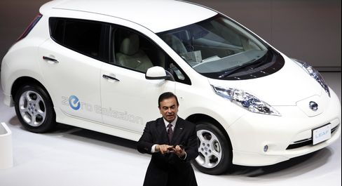 In Ghosn We Trust Tested as Nissan Electric Push Falters
