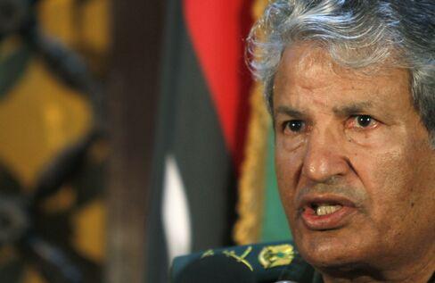 The Head of Libyan Rebel Forces Abdel Fattah Younes
