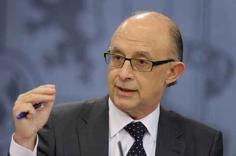 Spain's Budget Minister Cristobal Montoro