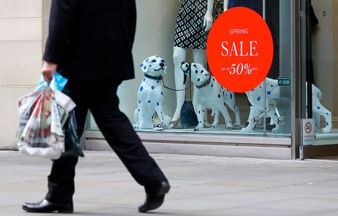 U.K. Retail Sales Decline More Than Forecast on Cold Weather