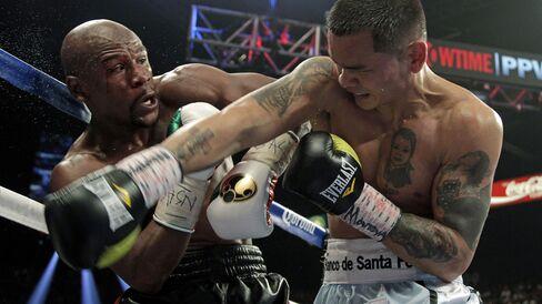 Boxers Floyd Mayweather & Marcos Maidana