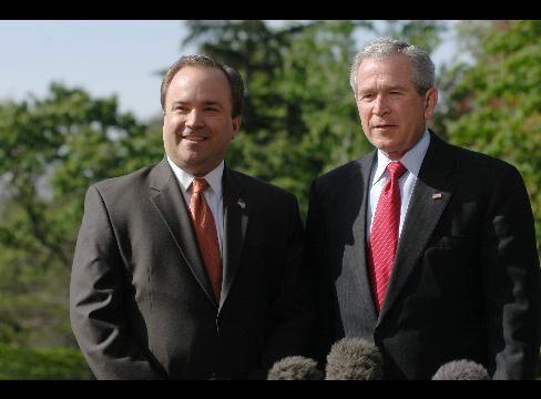 U.S. President George W. Bush and Scott McClellan
