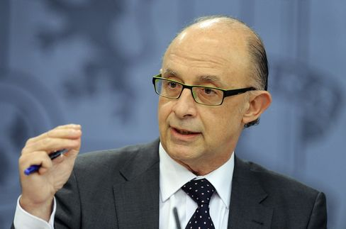 Spanish Budget Minister Cristobal Montoro