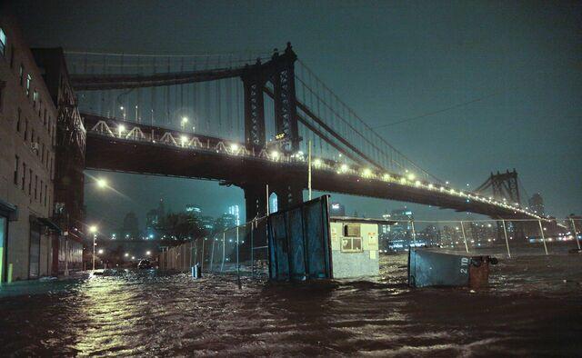 Sandy Flood Hurricane Sandy's Waters Flood