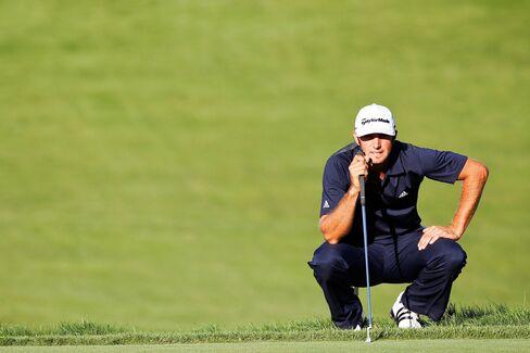 Golfer Dustin Johnson