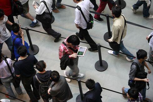 Apple IPad's China Market Share Slumps as Samsung Tablets Gain