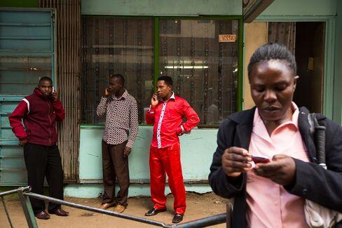 Nairobi Residents Using Mobile Phones