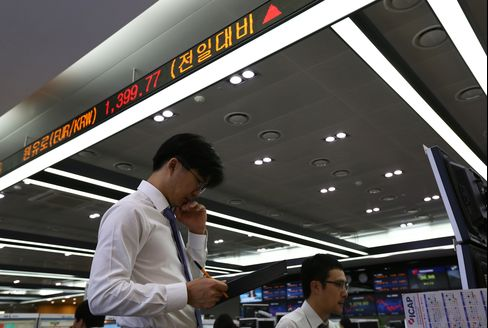 Kospi Index Rises to Five-Week High After Rate Cut