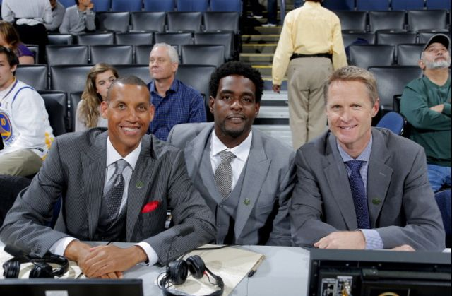"""No need to guess which of these guys just got a head-coaching gig.Photographer"""" Rocky Widner/NBAE via Getty Images"""