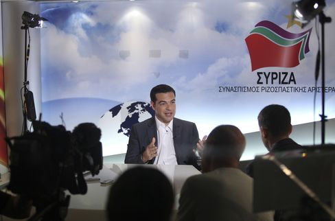 Leader of Greece's Syriza Party Alexis Tsipras