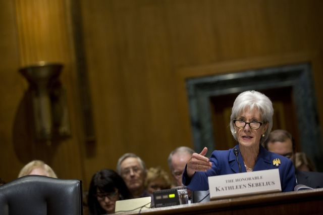 The confirmation hearings for the suuccessor to HHS Secretary Kathlleen Sebelius could be an opportunity to discuss executive branch overreach. Photographer: Andrew Harrer/Bloomberg