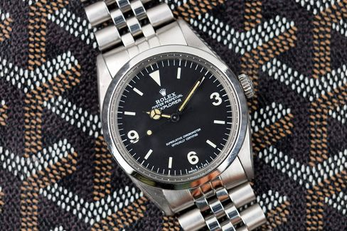 The Explorer is a more restrained type of vintage Rolex.