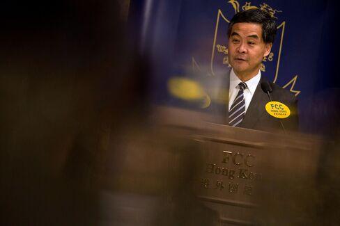Hong Kong's Chief Executive Leung Chun-ying
