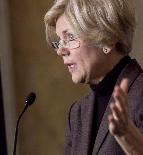 Warren Says Bureau Foes Should Look at Bank Behemoths'