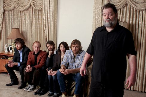 Musician Roky Erickson and the band Okkervil River