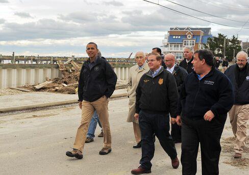 US President Barack Obama and New Jersey Governor Chris Christie