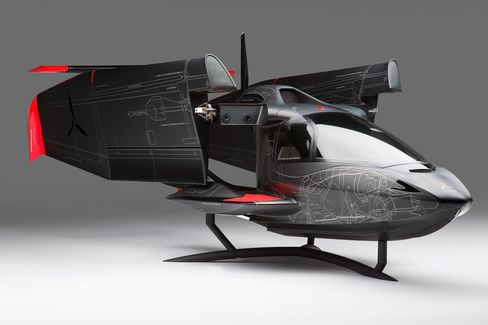 A rendering of the Icon A5 with its wings folded.