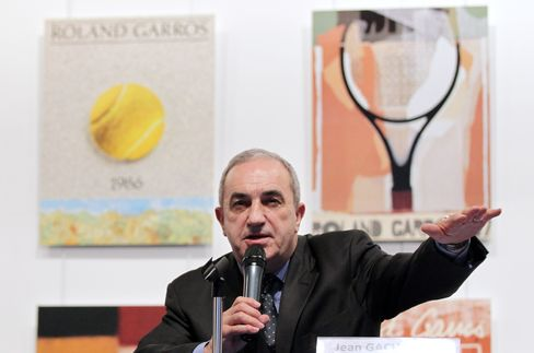 French Tennis Federation President Jean Gachassin