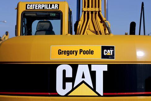 A Caterpillar excavator