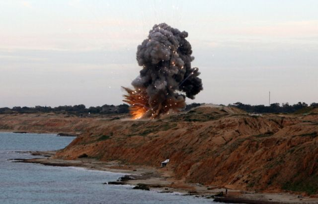 A Manpads missile is detonatedeast of Tripoli, Libya.