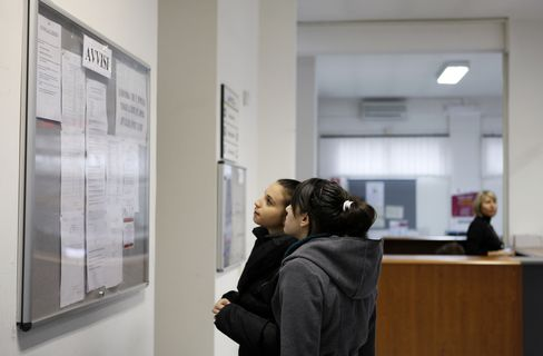 Italy Jobless Rate Reaches 12%, 36-Year-High Amid Recession