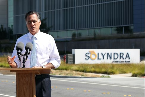 Romney Calls Solyndra a Symbol of Failure for Obama