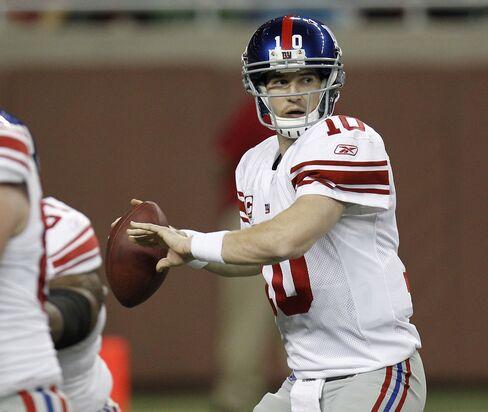 Giants Beat Vikings as Favre's Streak Ends; Ravens Win in OT